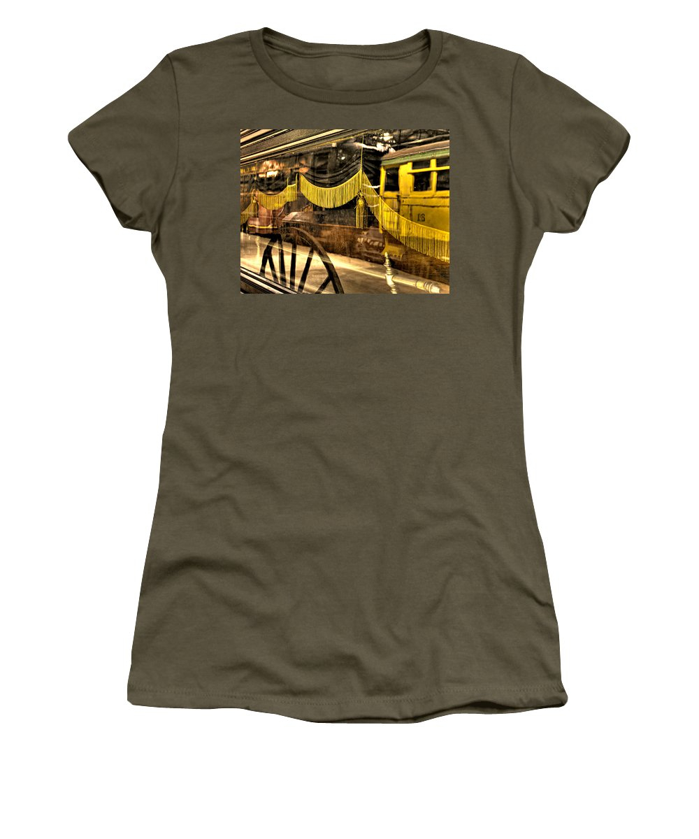 Train Women's T-Shirt featuring the photograph Reflections Of Death by Scott Wyatt