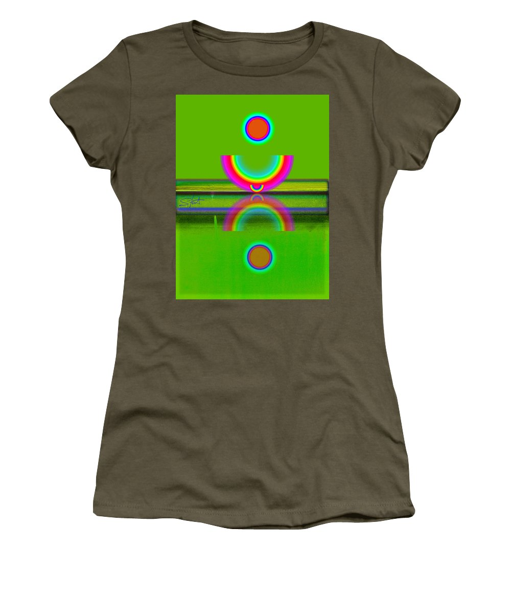 Reflections Women's T-Shirt featuring the painting Reflections On Lime by Charles Stuart