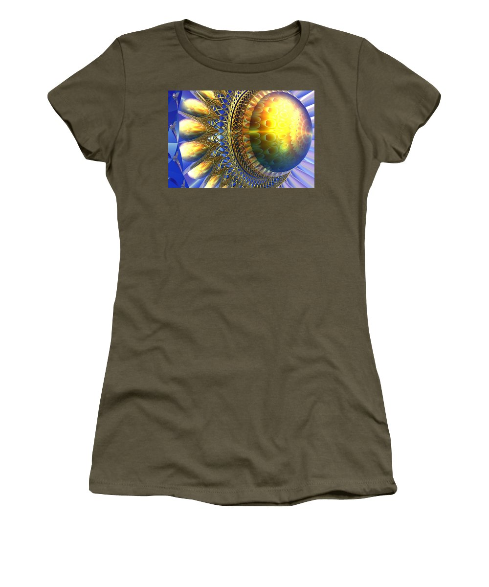 Bryce Women's T-Shirt (Athletic Fit) featuring the digital art Reflections On The Day Just Beginning by Lyle Hatch