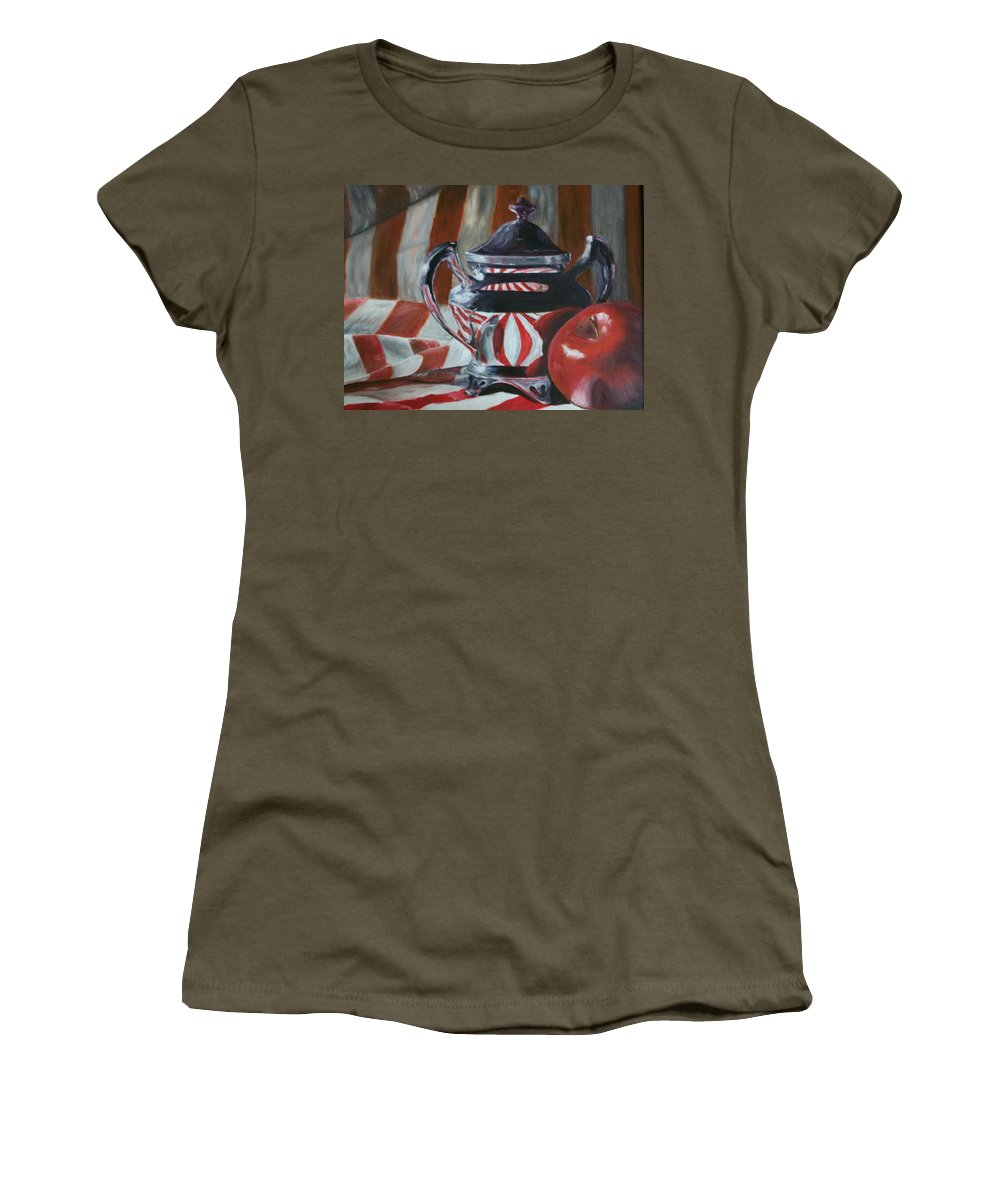 Still Life Women's T-Shirt (Athletic Fit) featuring the painting Reflections by Stephen King