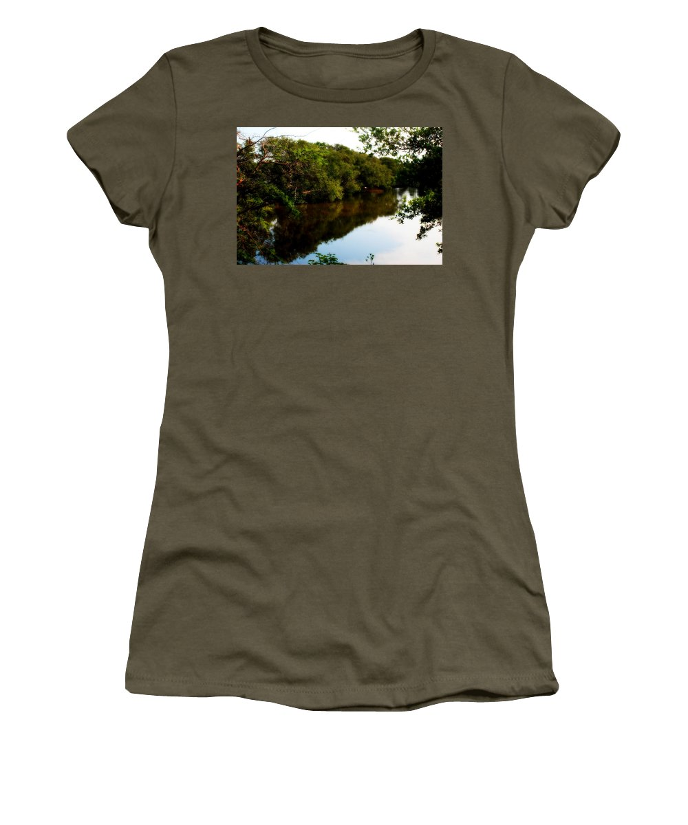 Reflects Women's T-Shirt featuring the photograph Reflects by Galeria Trompiz