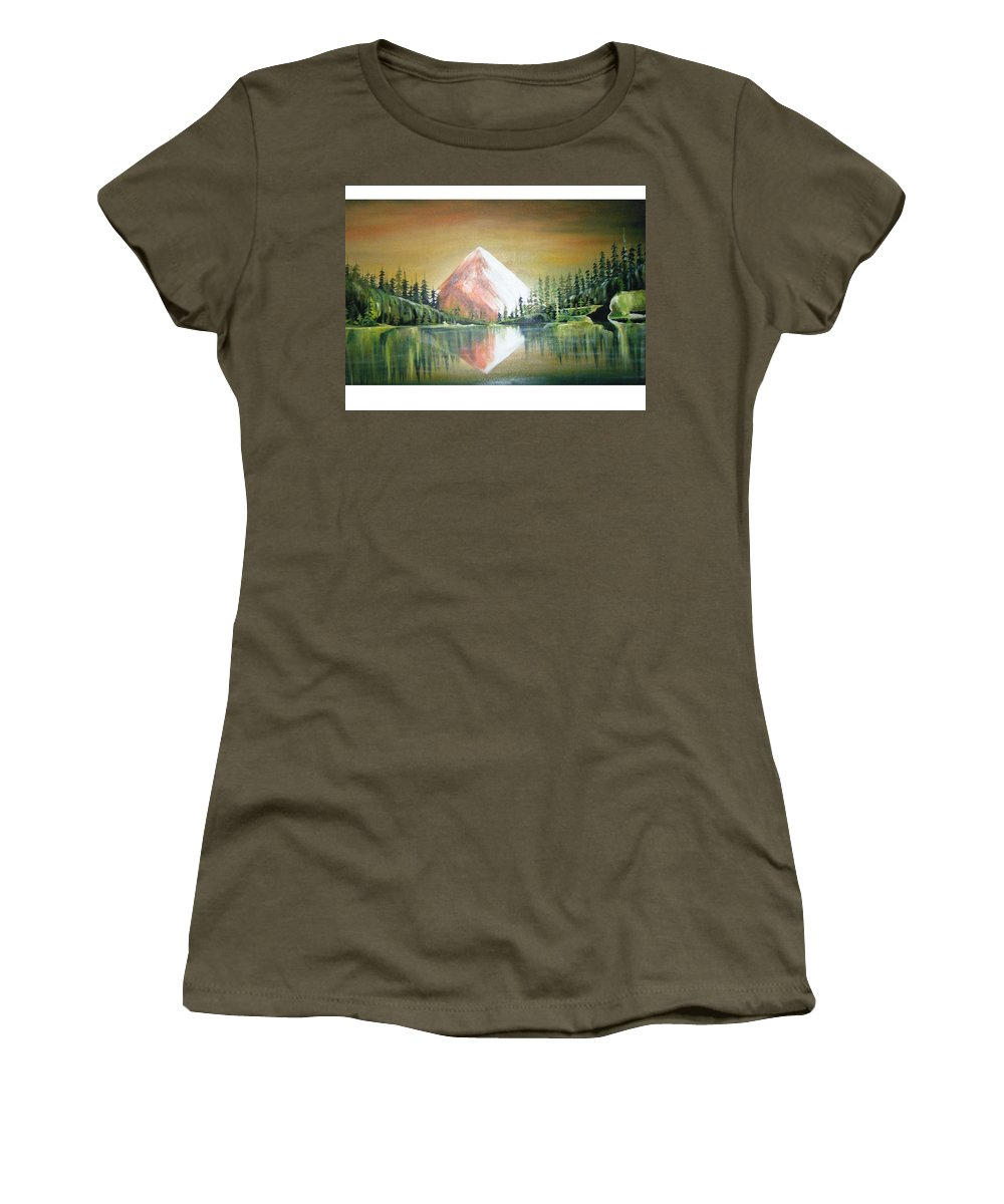 Oil Women's T-Shirt featuring the painting Reflexion by Olaoluwa Smith