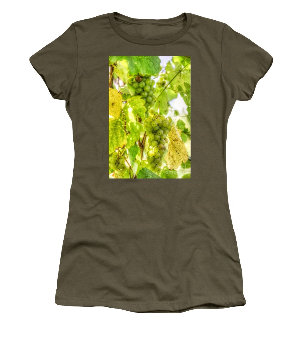 Women's T-Shirt featuring the photograph Riesling Harvest IIi by Michele Steffey