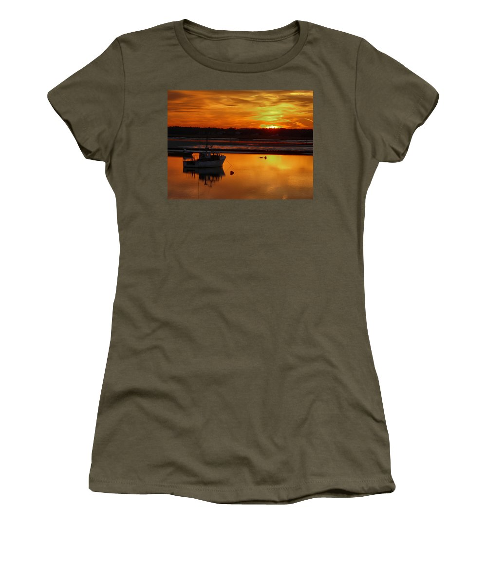 Spring Women's T-Shirt (Athletic Fit) featuring the photograph Relaxing by Nancie DeMellia