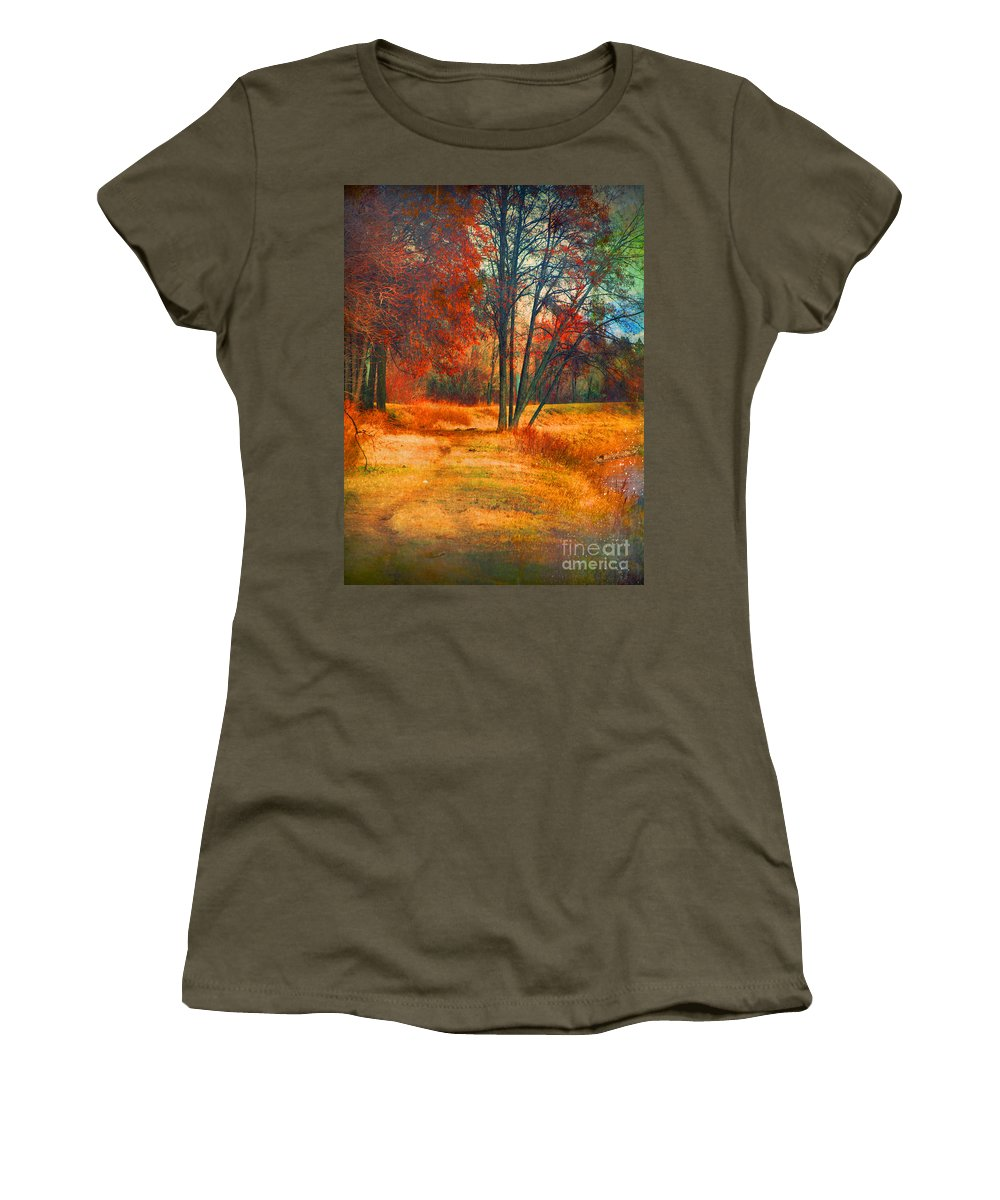 Trees Women's T-Shirt featuring the photograph Remembering The Places I Have Been by Tara Turner