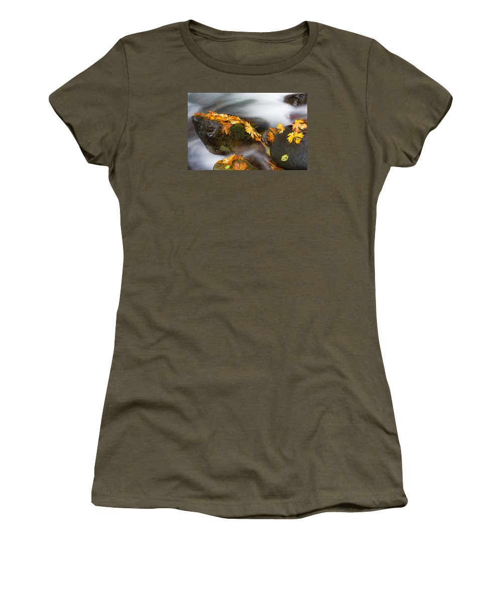 Autumn Women's T-Shirt featuring the photograph Respite by Mike Dawson