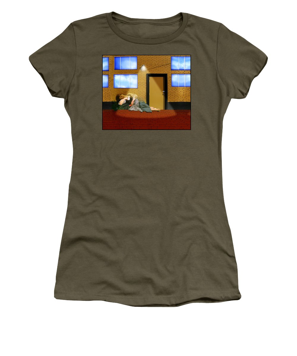 Rest At Harvest Women's T-Shirt featuring the painting Resting Under The Light by Gravityx9 Designs