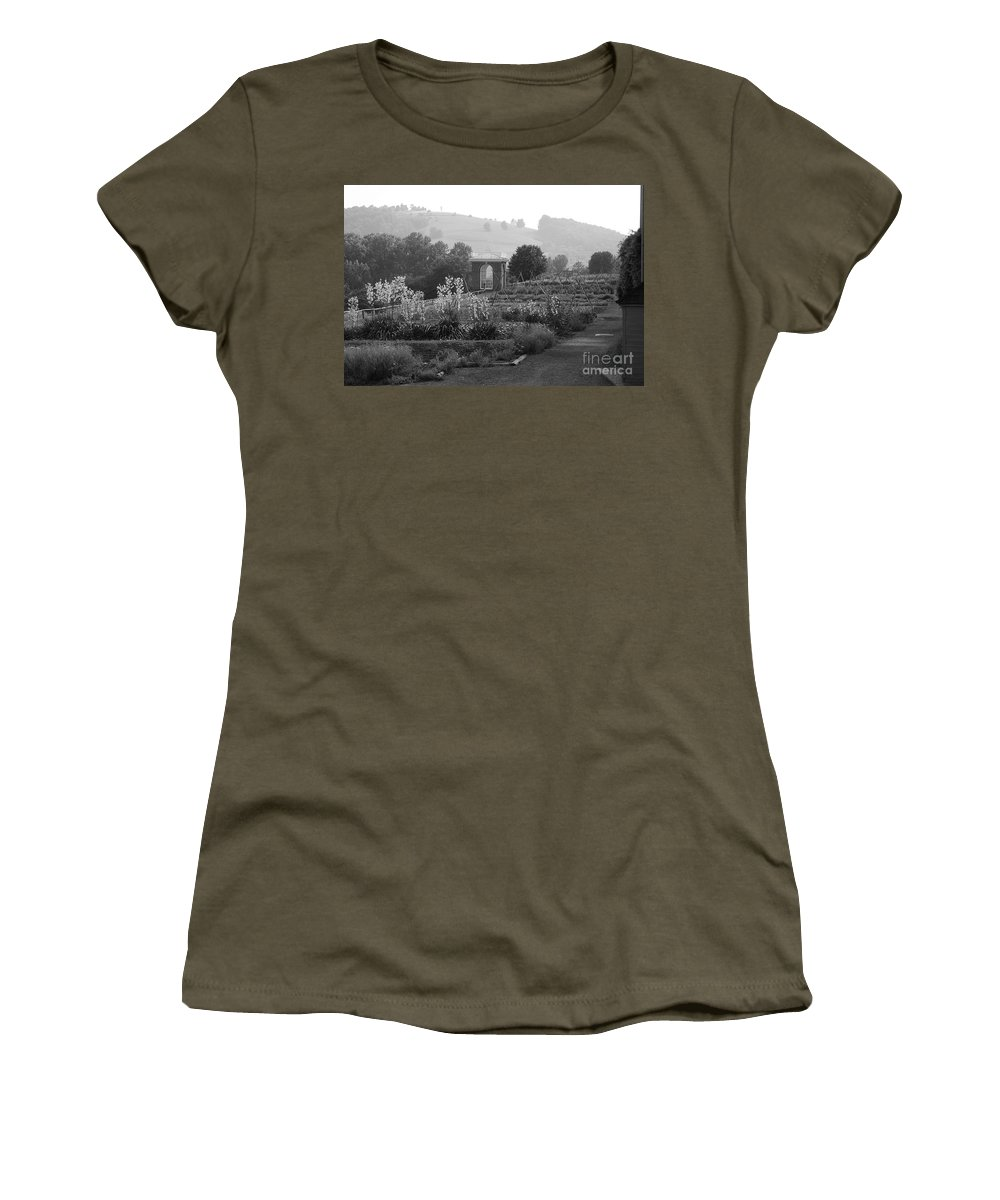 Black And White Women's T-Shirt featuring the photograph Retreat by Eric Liller