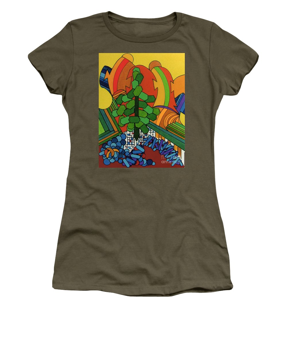 Windswept Women's T-Shirt featuring the drawing Rfb0534 by Robert F Battles