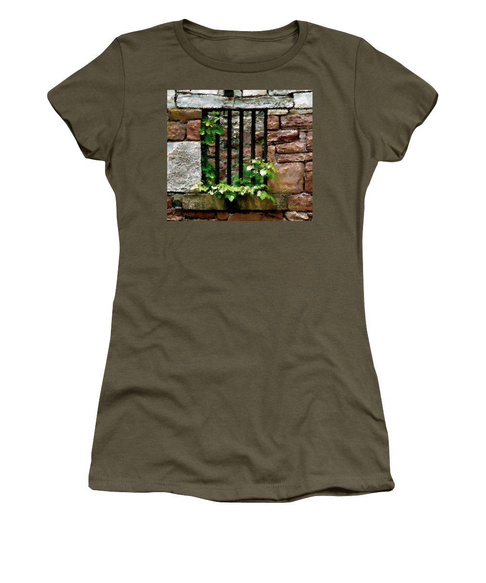 American History Women's T-Shirt (Athletic Fit) featuring the digital art Rhus Radicans Triumphant by RC DeWinter