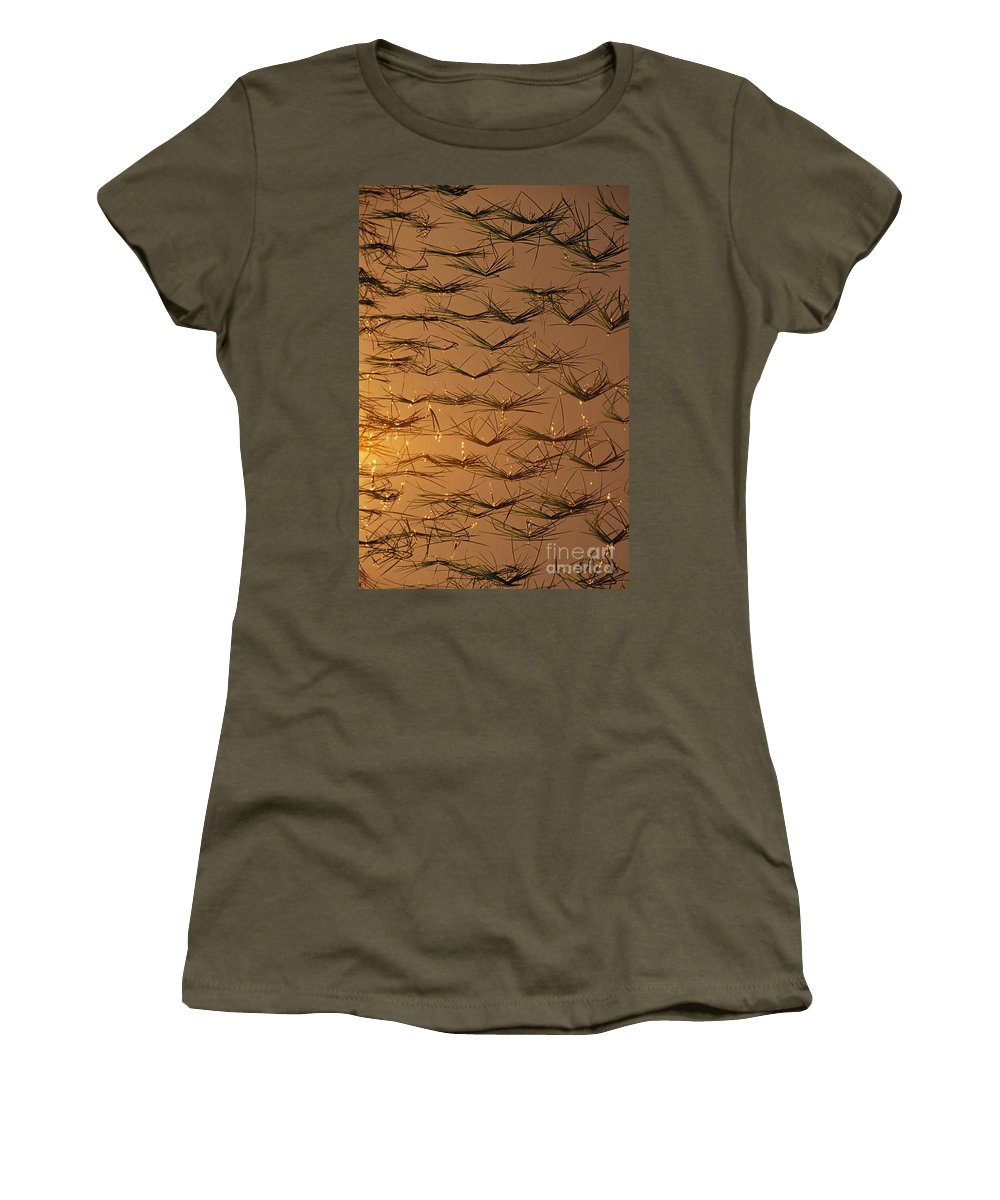 Abstract Art Women's T-Shirt featuring the photograph Rice Shoots by Bill Brennan - Printscapes