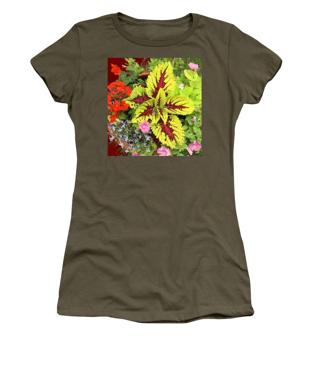 Flowers Women's T-Shirt (Athletic Fit) featuring the photograph Rich Pattern by Ian MacDonald