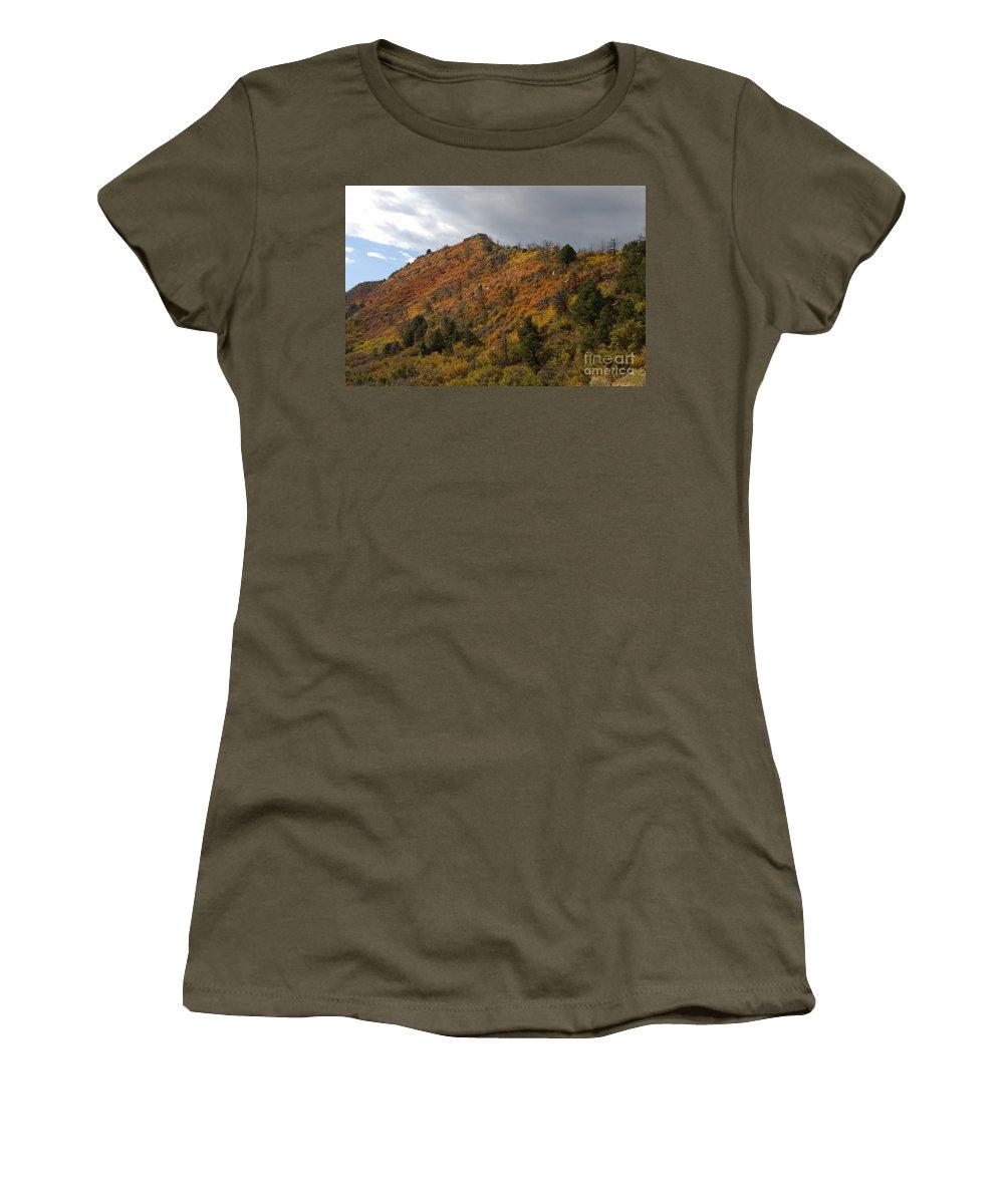 Landscape Women's T-Shirt (Athletic Fit) featuring the photograph Ridge Line by David Lee Thompson