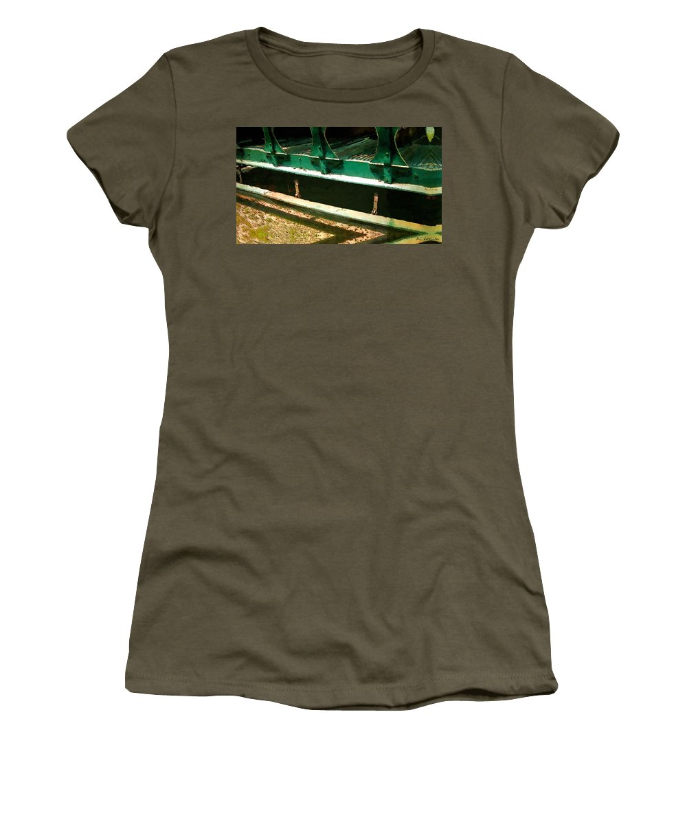 Antique Women's T-Shirt (Athletic Fit) featuring the painting Riding The Rails by RC DeWinter