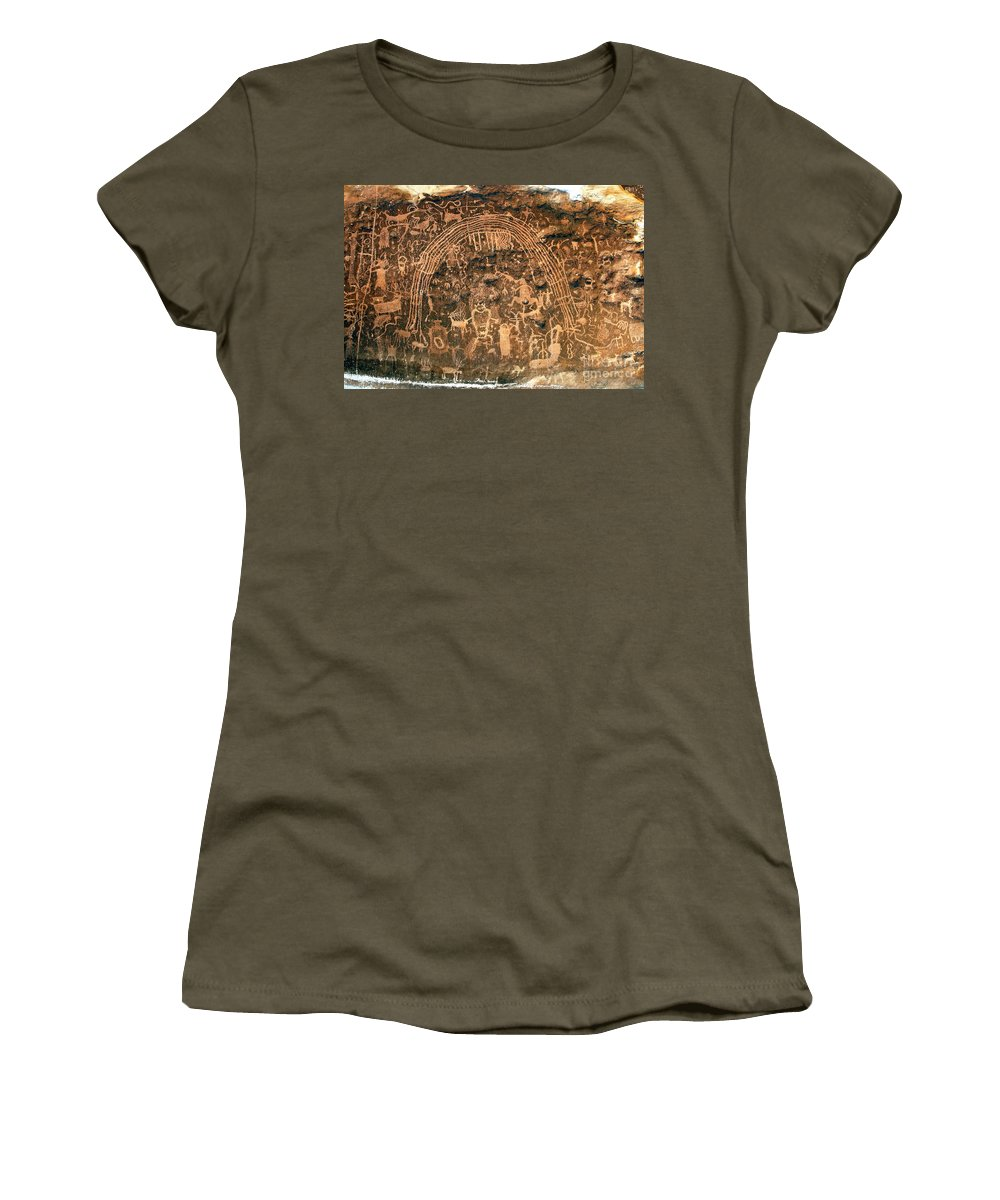 Petroglyphs Women's T-Shirt (Athletic Fit) featuring the photograph River Of Dreams by David Lee Thompson