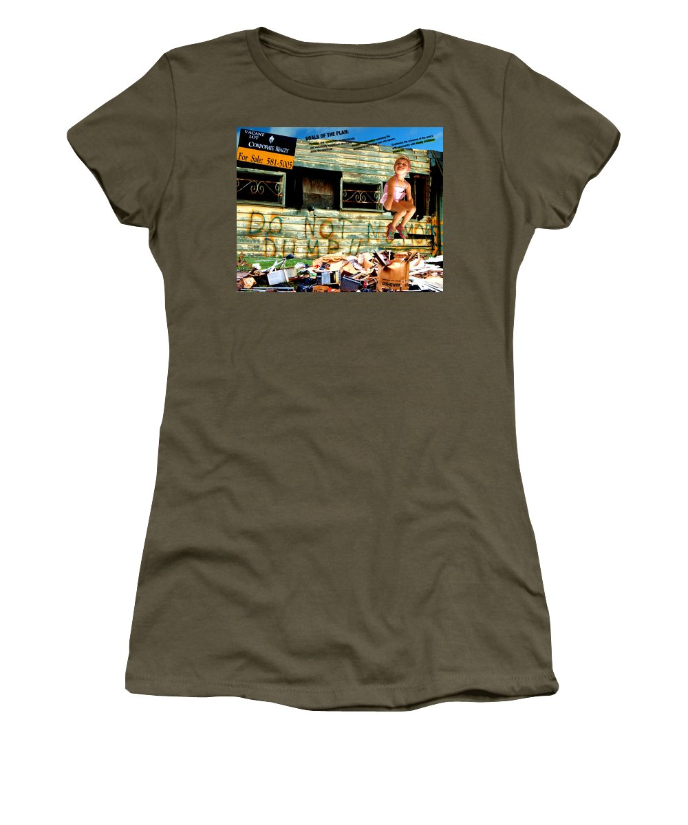 Riverfront Development Women's T-Shirt (Junior Cut) featuring the photograph Riverfront Visions by Ze DaLuz
