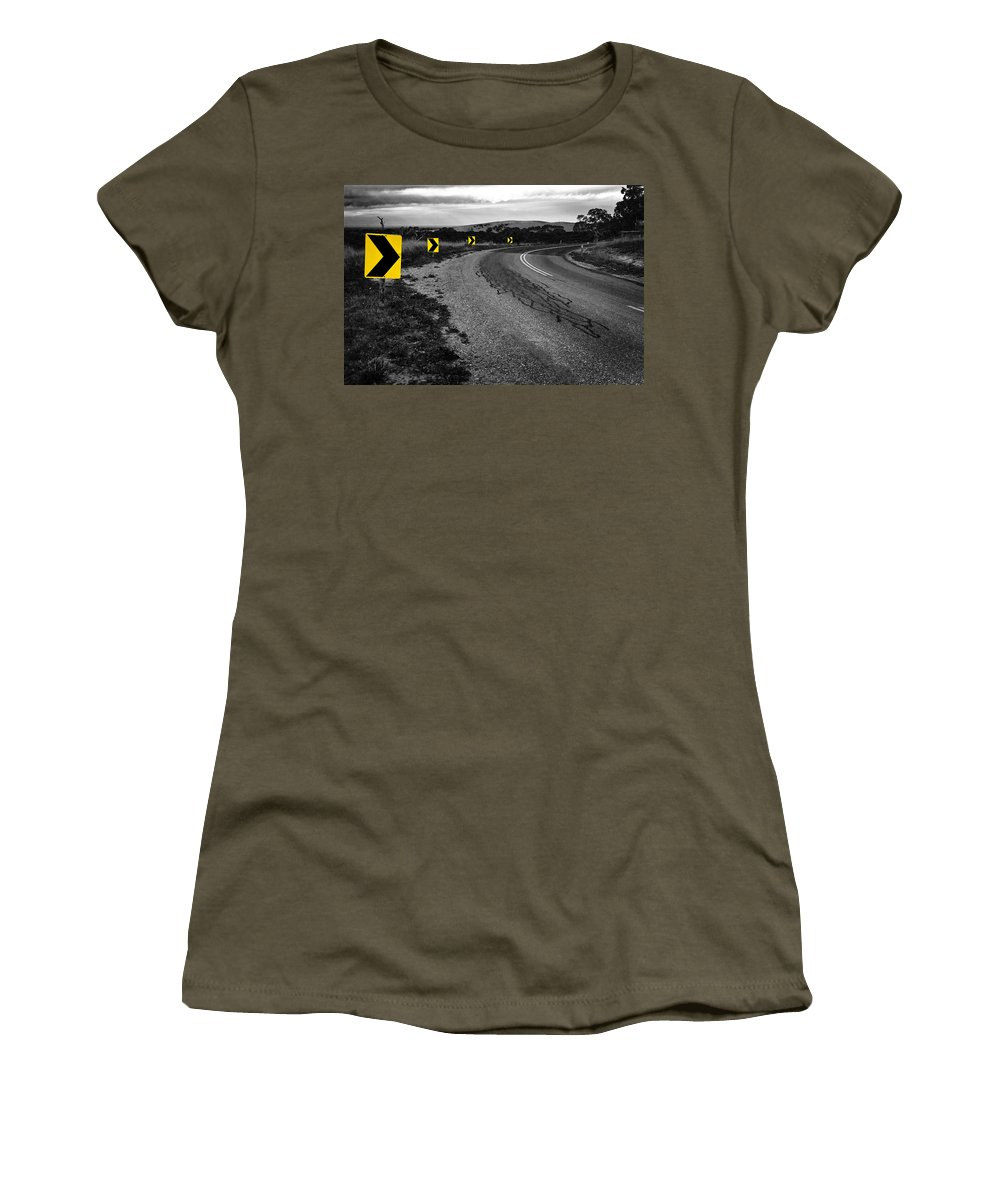 Road Women's T-Shirt featuring the photograph Road To Nowhere by Kelly Jade King
