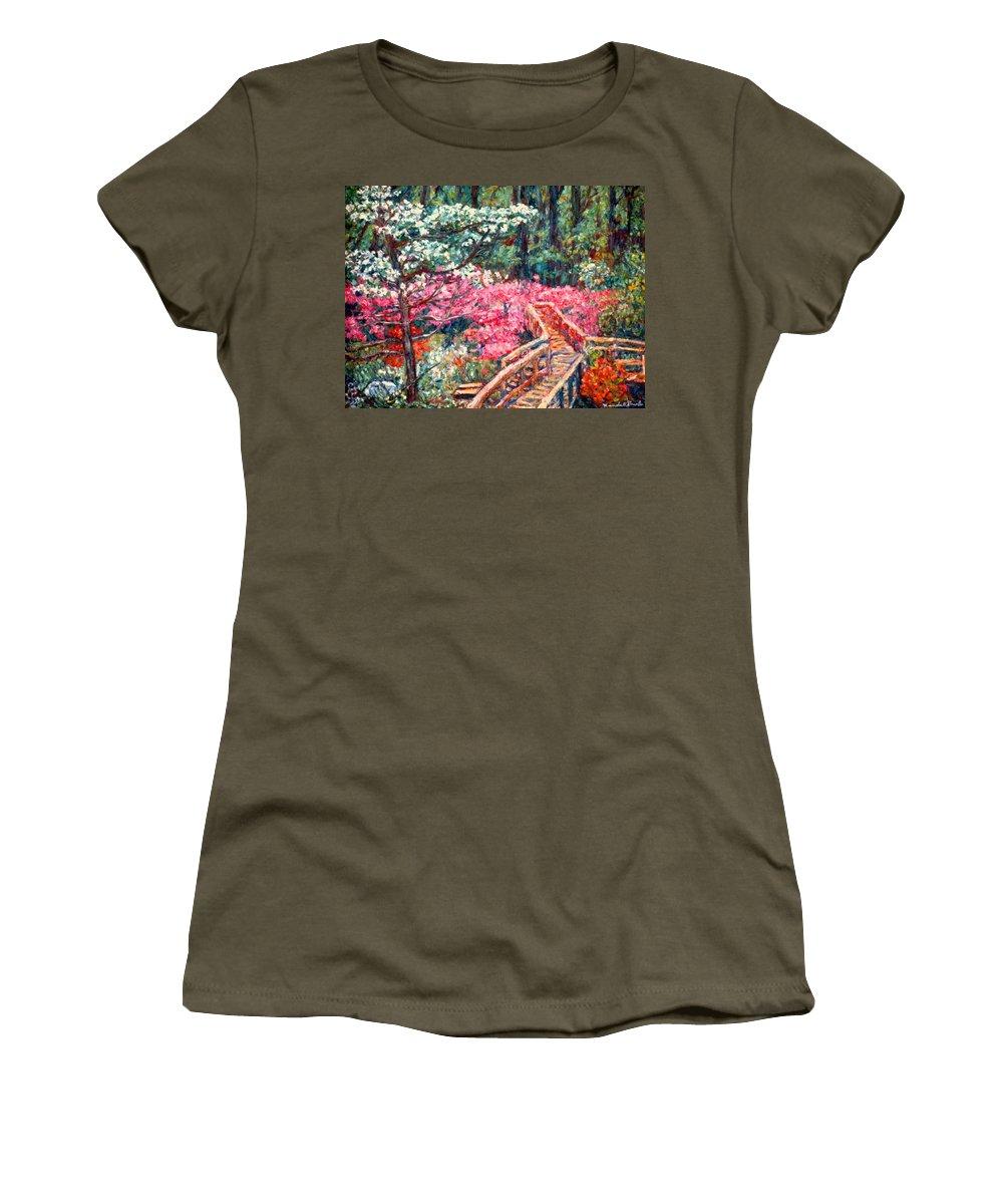 Garden Women's T-Shirt featuring the painting Roanoke Beauty by Kendall Kessler
