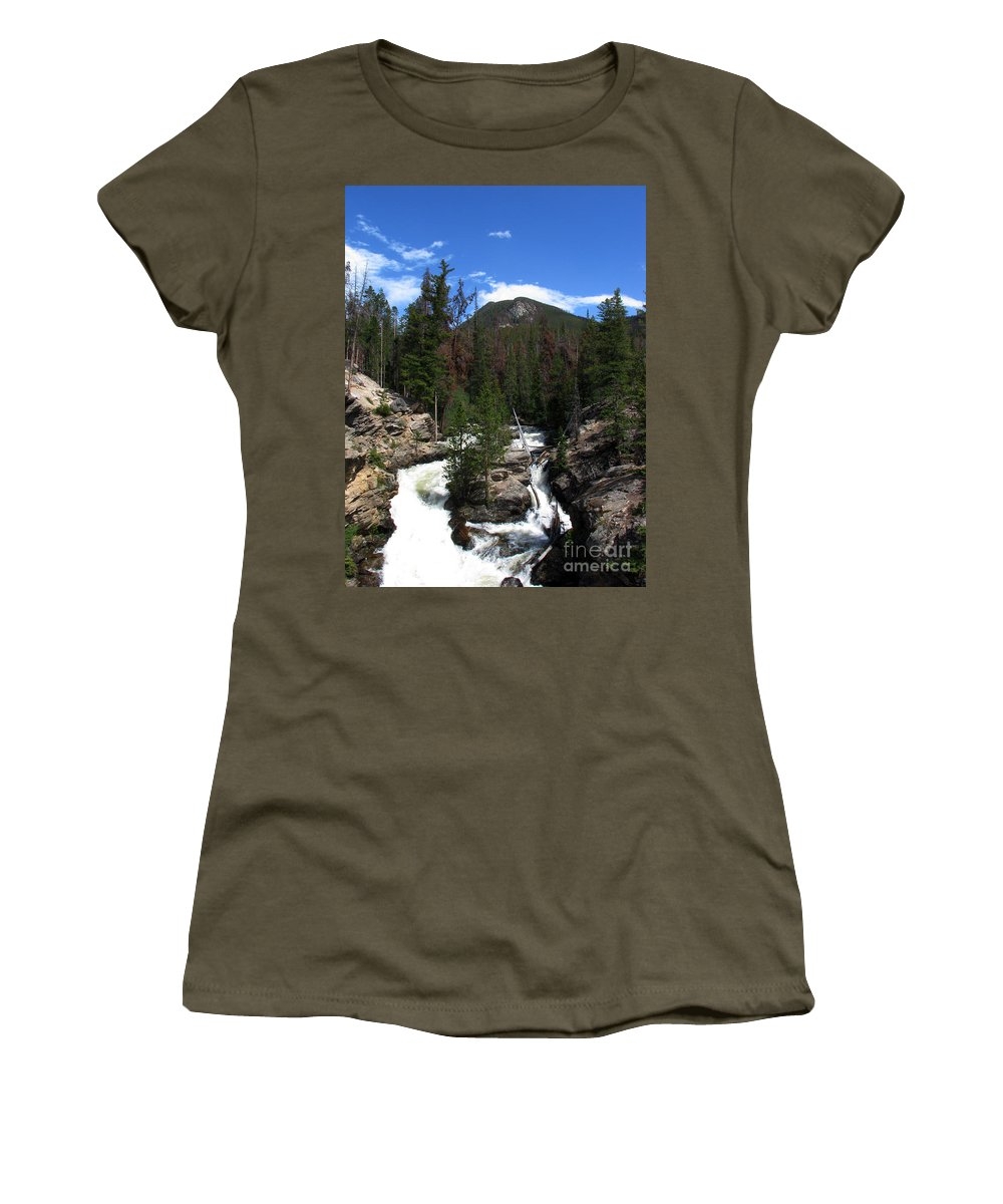 Colorado Women's T-Shirt (Athletic Fit) featuring the photograph Roar by Amanda Barcon
