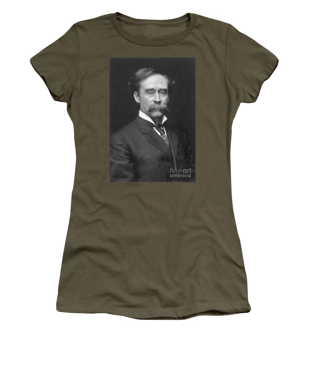 1910s Women's T-Shirt (Athletic Fit) featuring the painting Robert Peary (1856-1920) by Granger