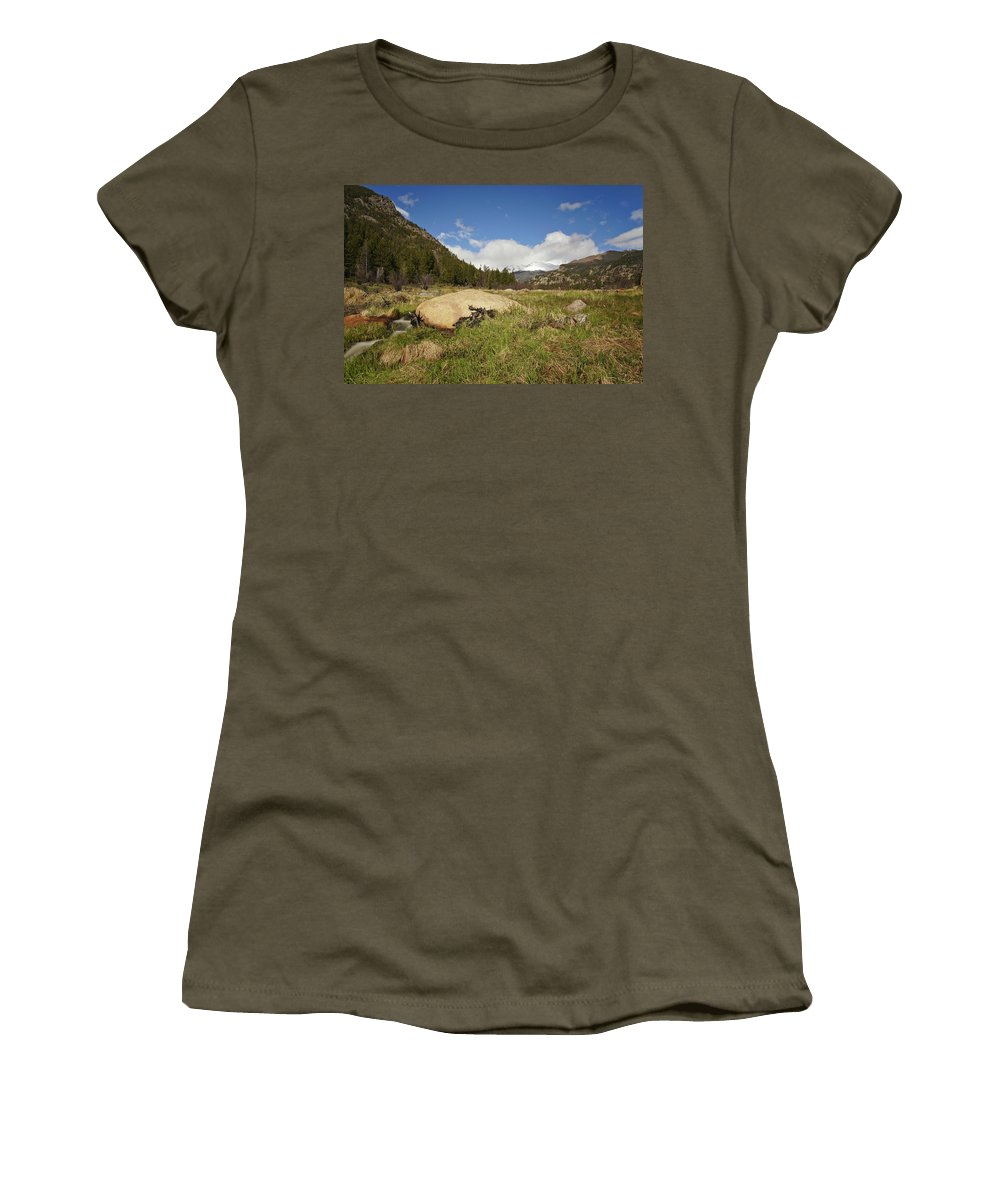 Horizontal Women's T-Shirt featuring the photograph Rocky Mountain Valley by Brian Kamprath