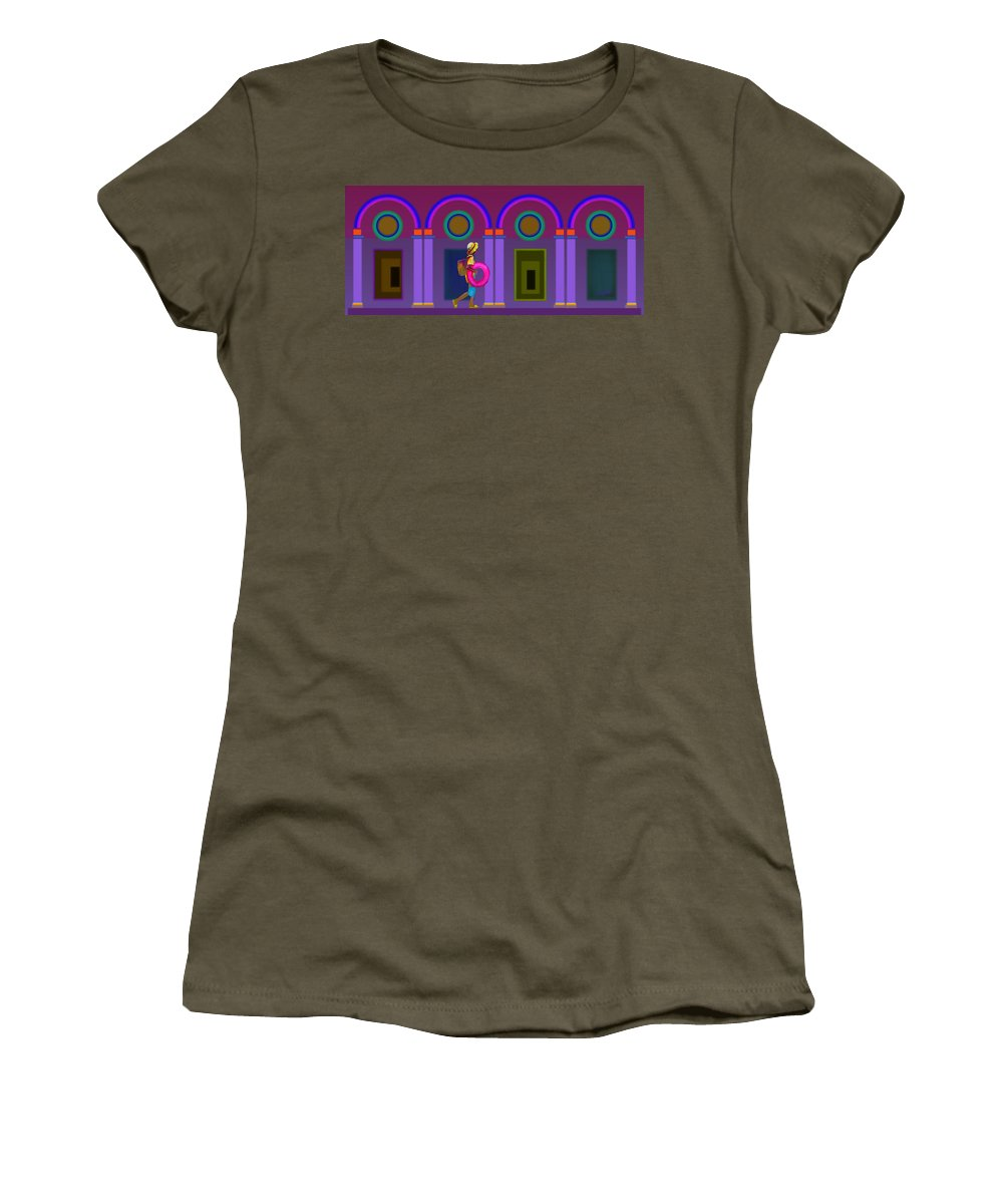 Classical Women's T-Shirt featuring the painting Roman Lavender by Charles Stuart