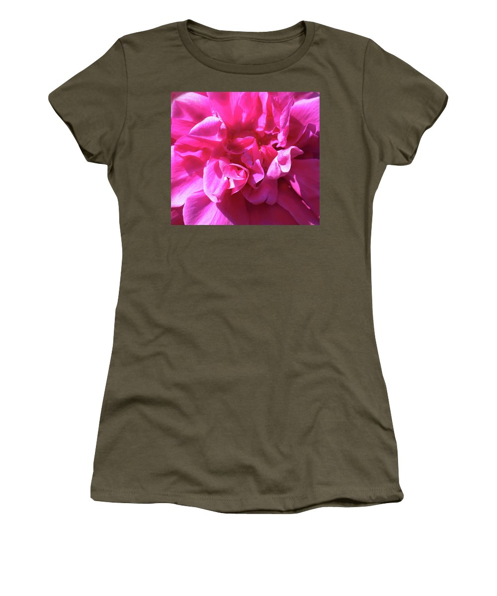 Rose Women's T-Shirt (Athletic Fit) featuring the photograph Rose Explosion by Ian MacDonald