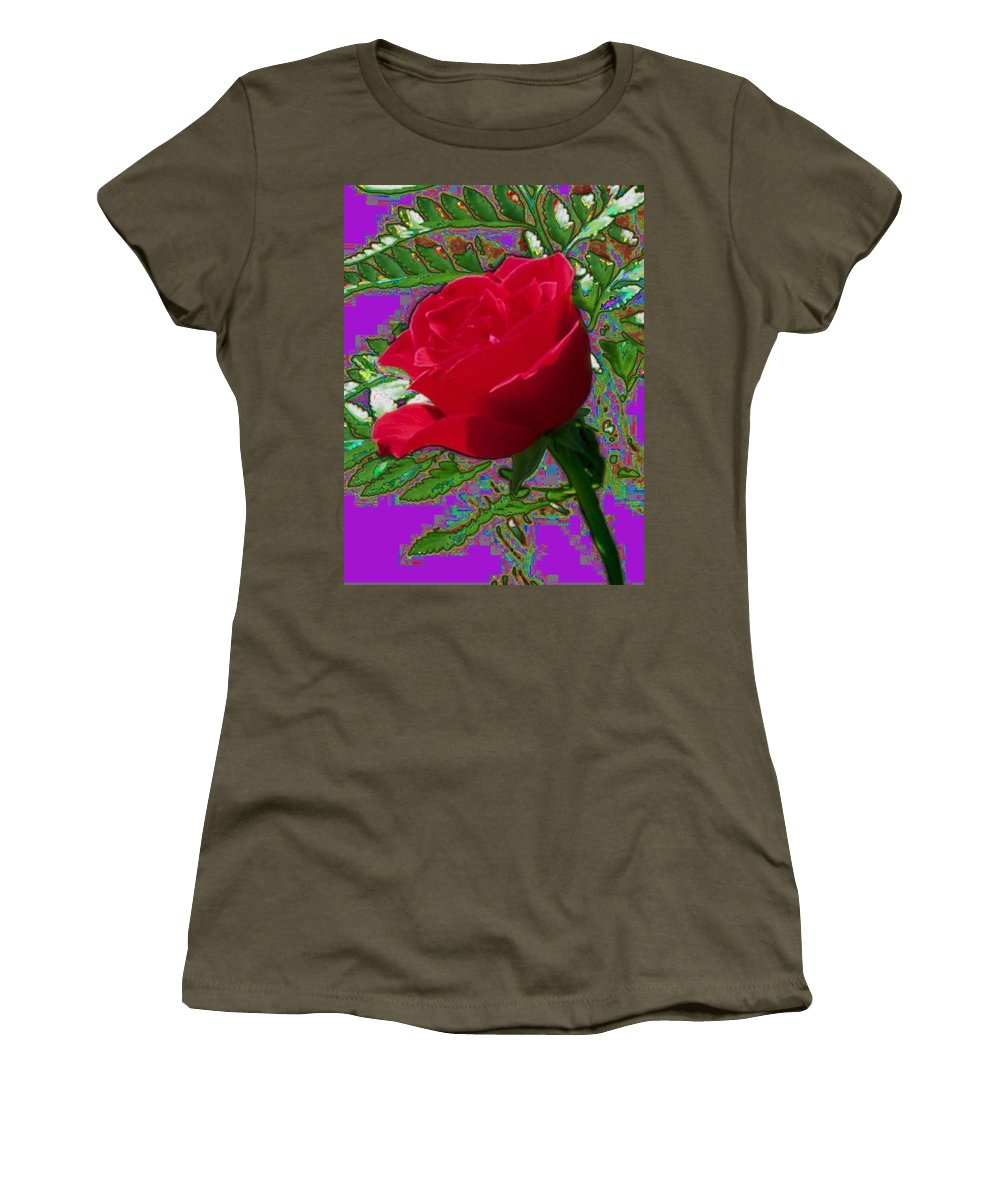 Rose Women's T-Shirt featuring the photograph Rose For You by Tim Allen