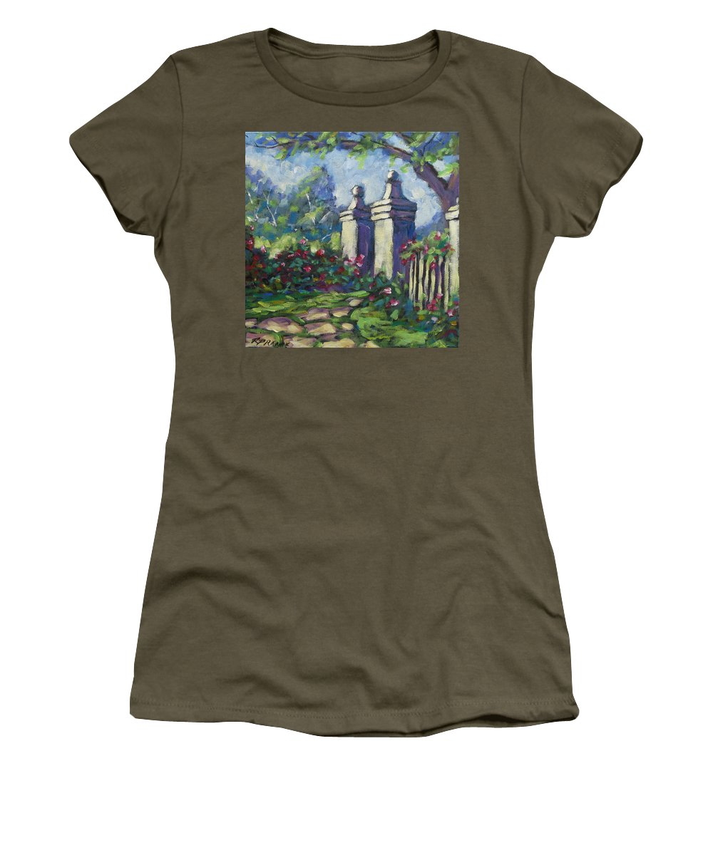 Rose Women's T-Shirt featuring the painting Rose Garden by Richard T Pranke