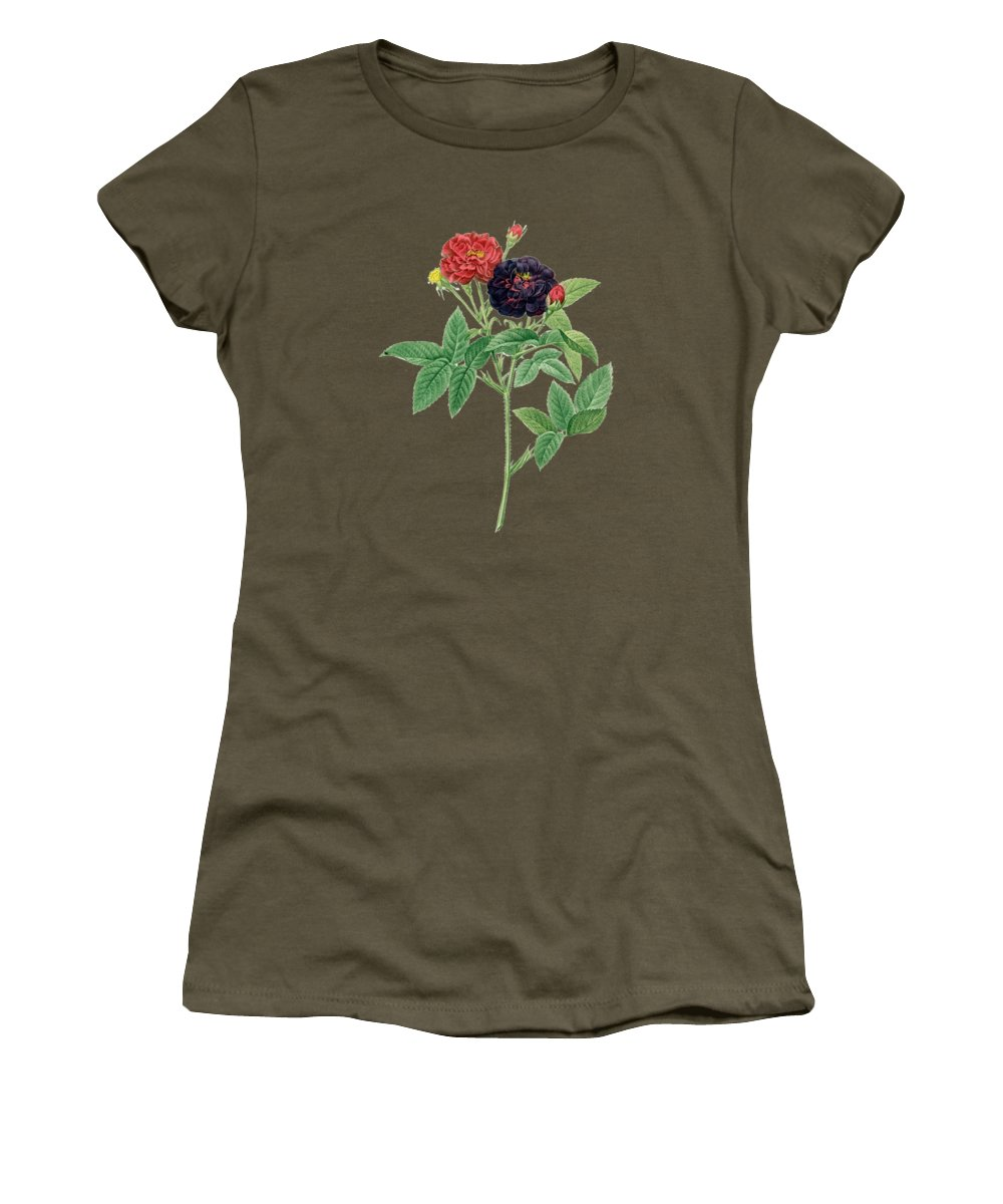 Rose Women's T-Shirt featuring the painting Rose121 by The one eyed Raven