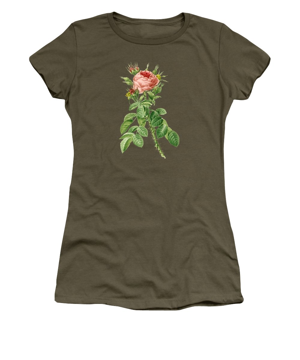 Rose Women's T-Shirt featuring the painting Rose144 by The one eyed Raven