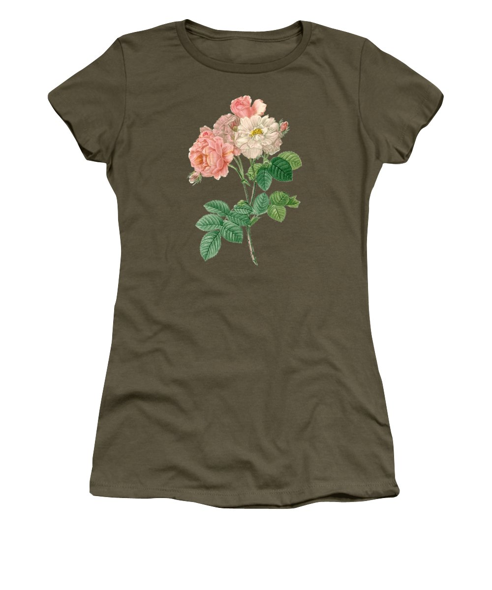 Rose Women's T-Shirt featuring the painting Rose155 by The one eyed Raven