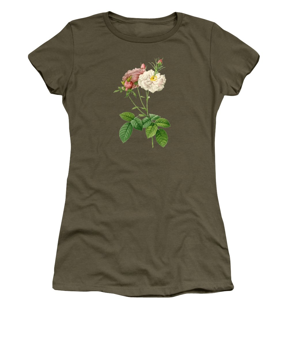 Rose Women's T-Shirt featuring the painting Rose57 by The one eyed Raven