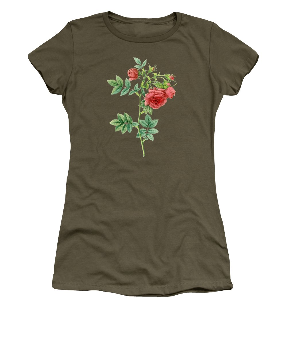 Rose Women's T-Shirt featuring the painting Rose74 by The one eyed Raven