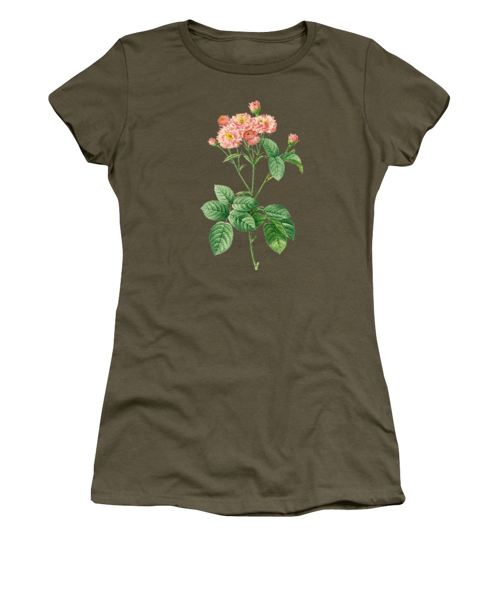 Rose Women's T-Shirt featuring the painting Rose76 by The one eyed Raven