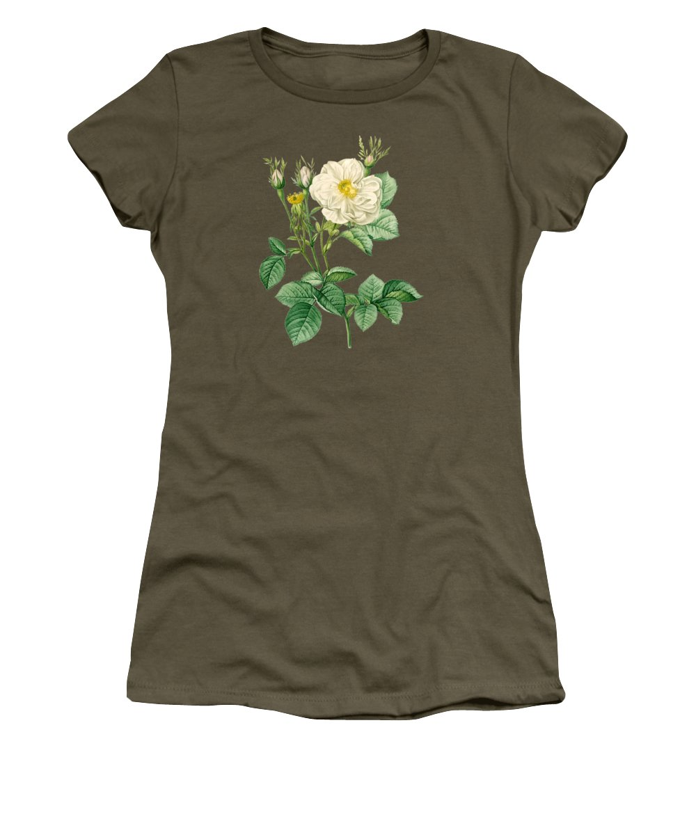 Rose Women's T-Shirt featuring the painting Rose81 by The one eyed Raven