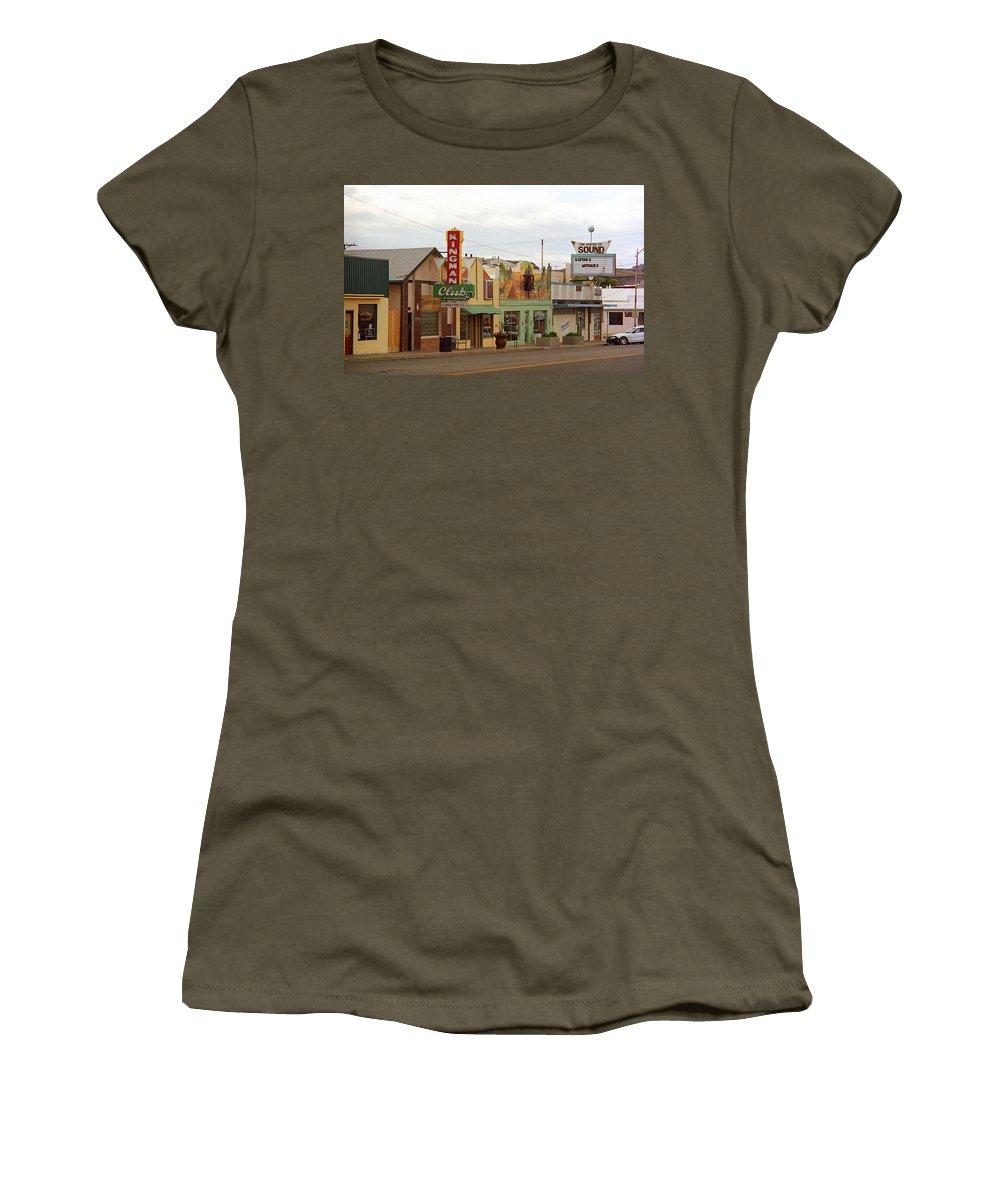 66 Women's T-Shirt featuring the photograph Route 66 - Kingman Arizona by Frank Romeo