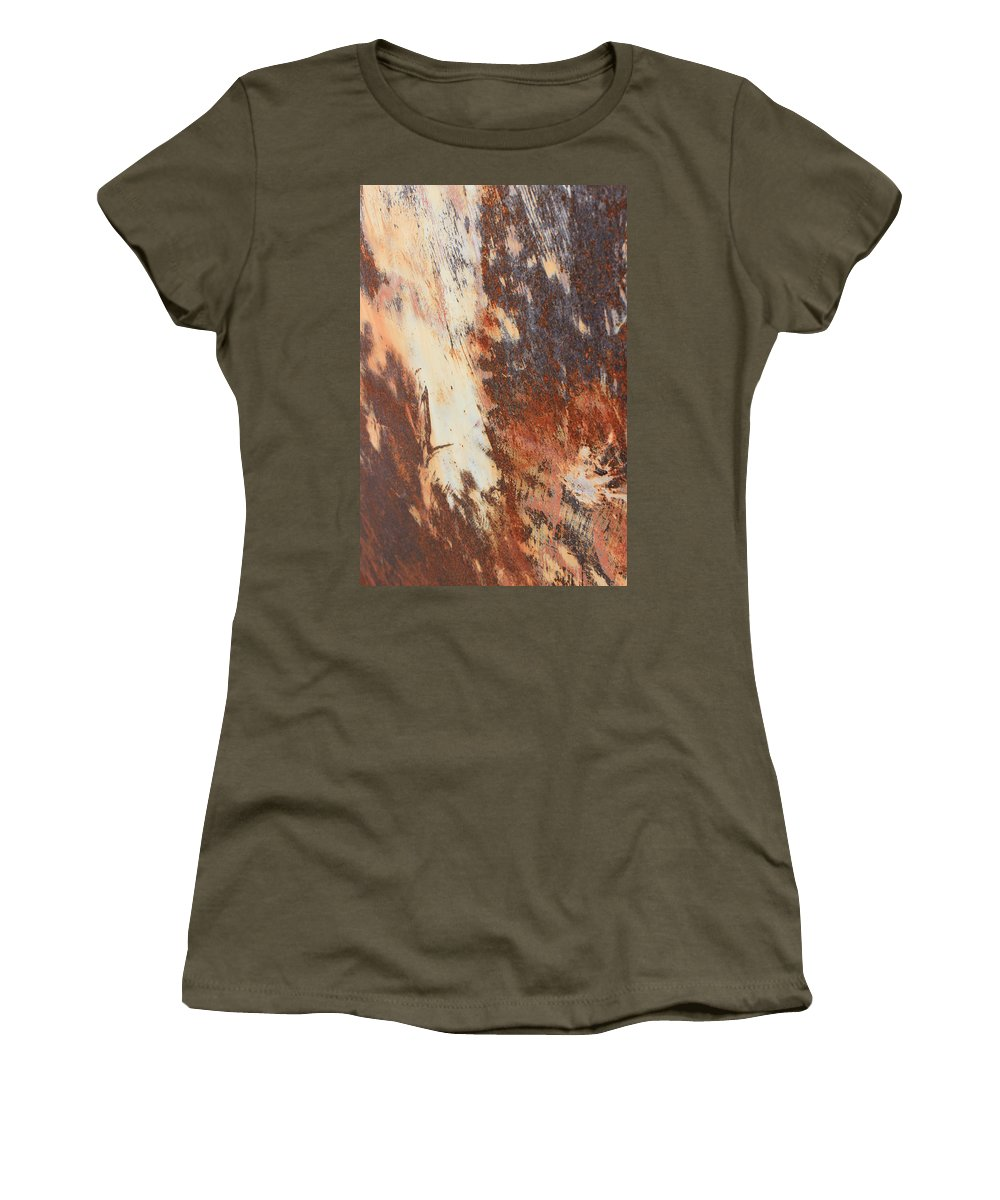 Rust Women's T-Shirt (Athletic Fit) featuring the photograph Rusty Drum #1 by Wade Milne