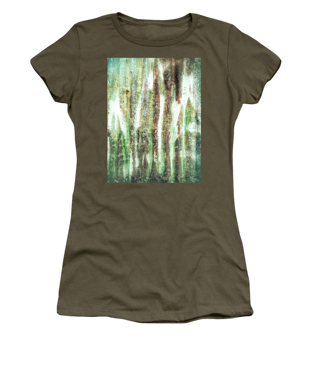 Abstract Women's T-Shirt featuring the photograph Rusty Metal Background by Tom Gowanlock