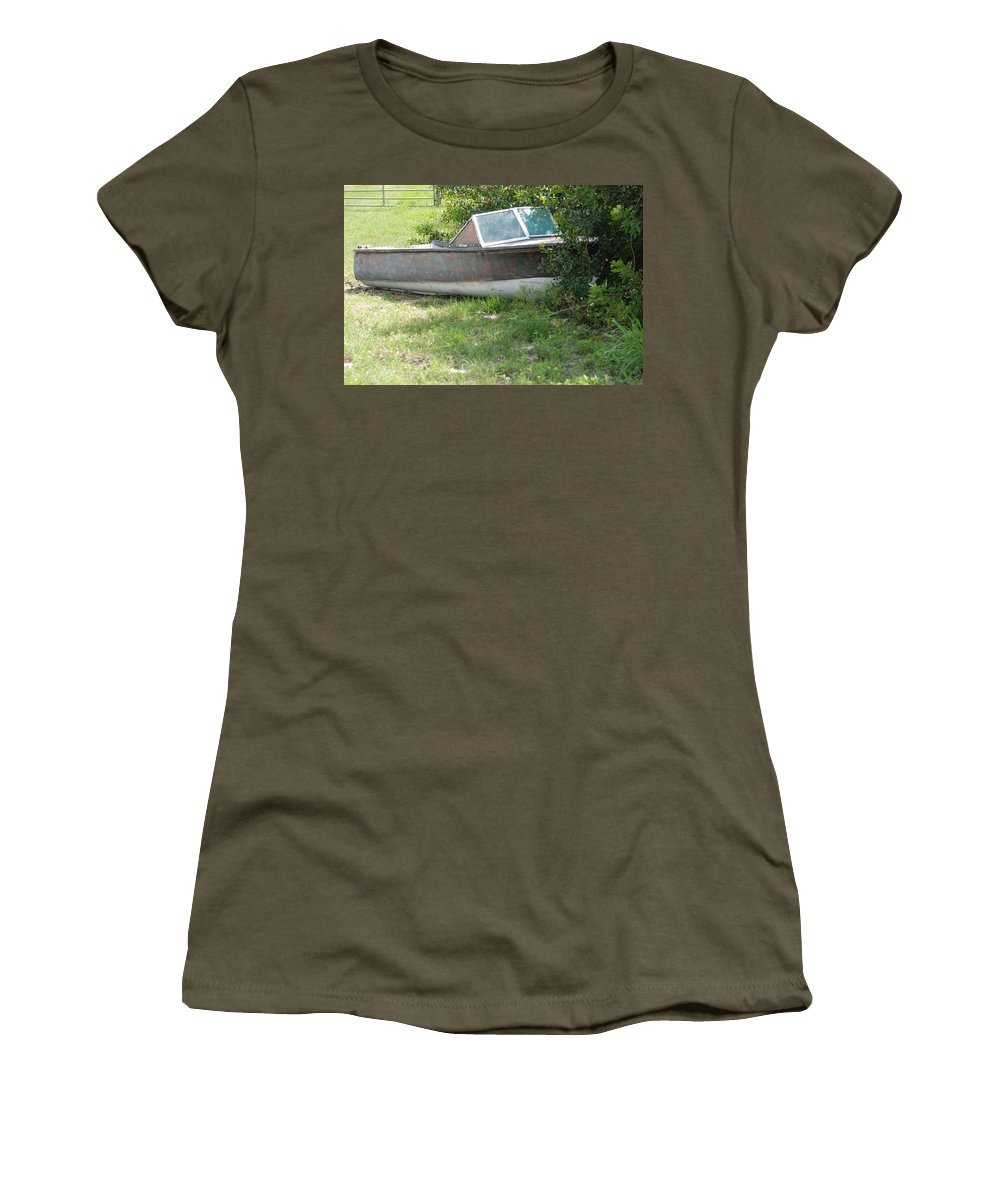 Boat Women's T-Shirt (Athletic Fit) featuring the photograph S S Minnow by Rob Hans