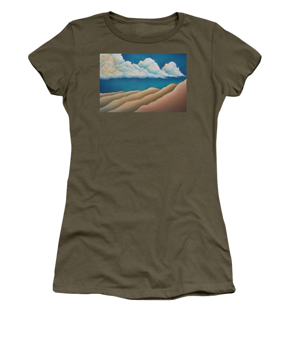 Landscape Women's T-Shirt featuring the painting Sacred Night by Jeniffer Stapher-Thomas