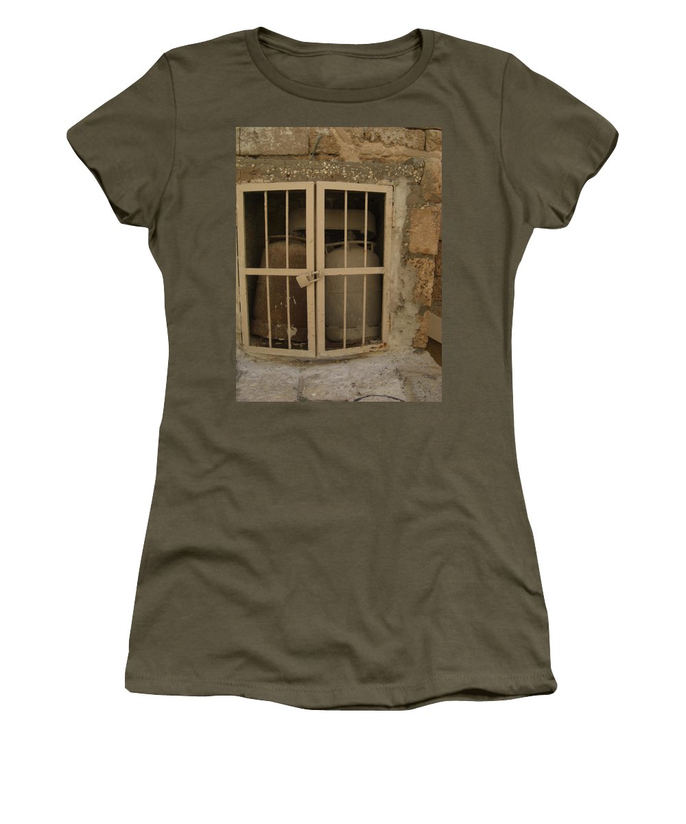 Safety First Women's T-Shirt featuring the photograph Safety First by Liliane DUMONT-BUIJS