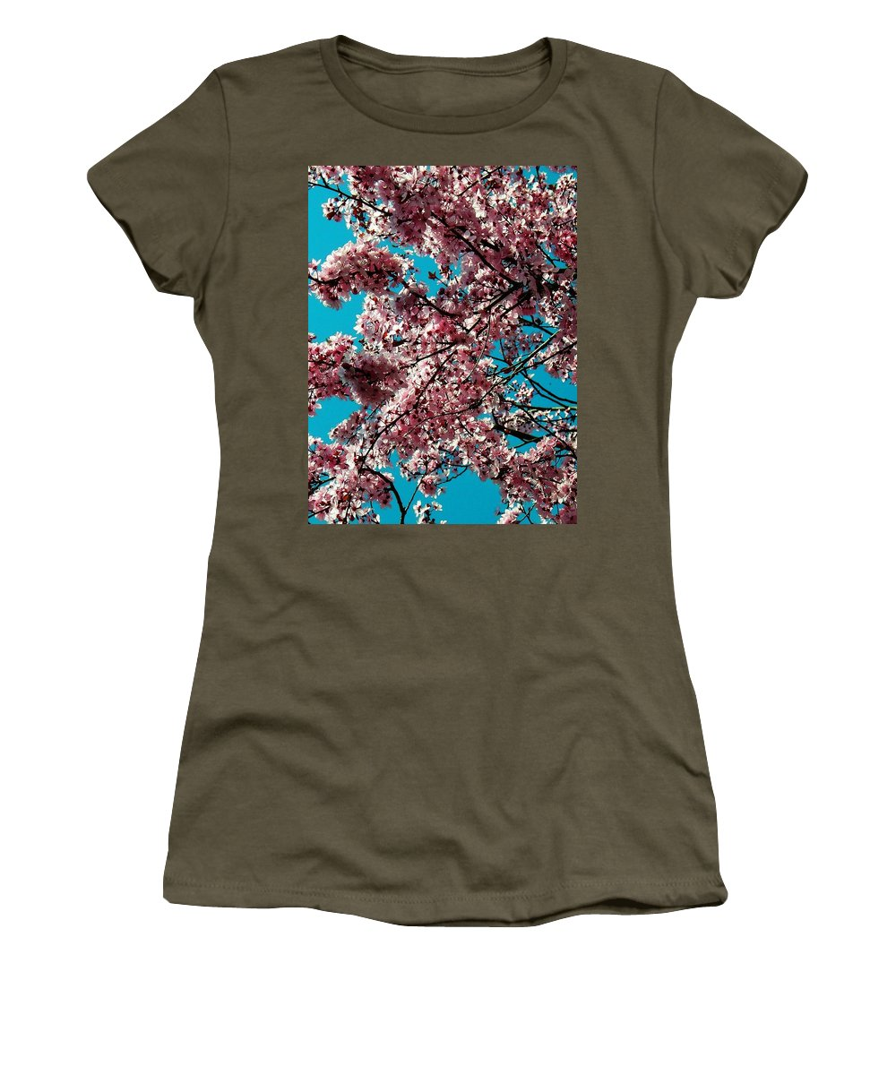 Fruehling Women's T-Shirt (Athletic Fit) featuring the photograph Sakura by Juergen Weiss
