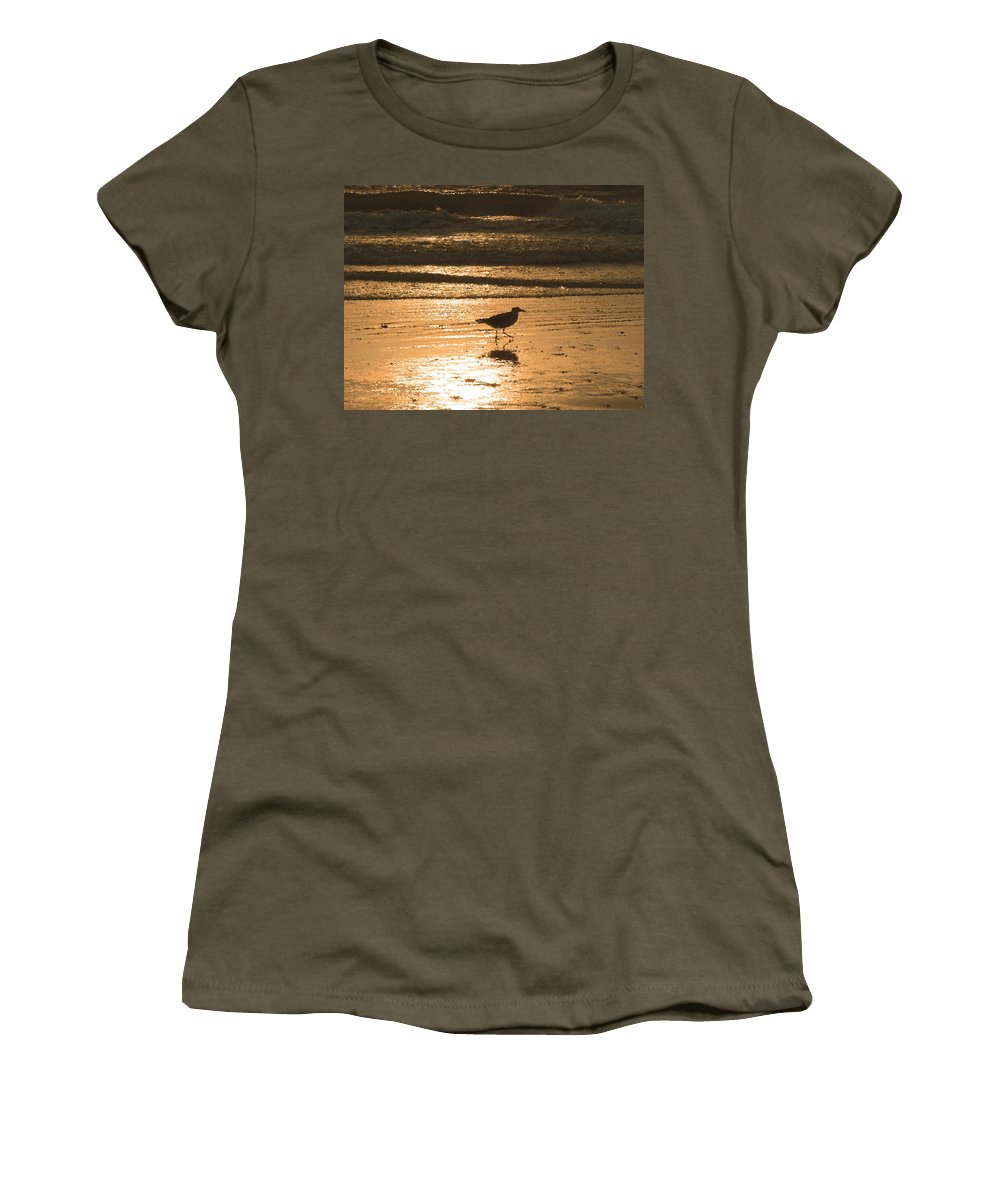 Nature Women's T-Shirt featuring the photograph Sandpiper by Peg Urban