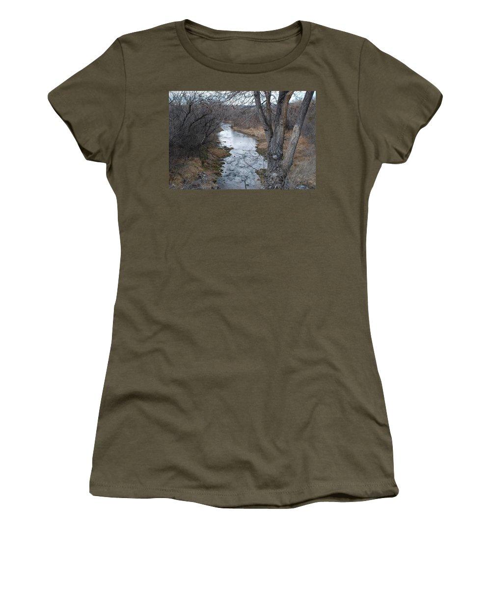 Santa Fe Women's T-Shirt featuring the photograph Santa Fe River by Rob Hans