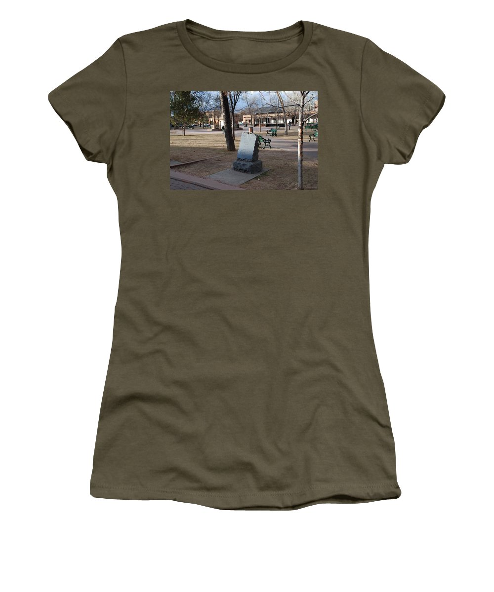 Parks Women's T-Shirt featuring the photograph Santa Fe Trail Marker by Rob Hans