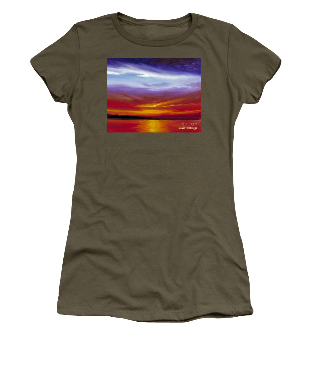 Skyscape Women's T-Shirt featuring the painting Sarasota Bay I by James Christopher Hill