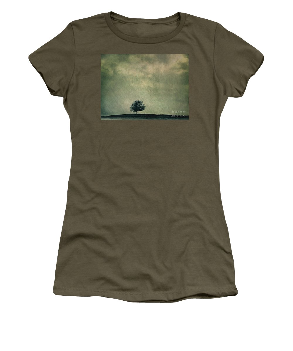Blue Women's T-Shirt (Athletic Fit) featuring the photograph Screaming At The Top Of My Voice by Dana DiPasquale