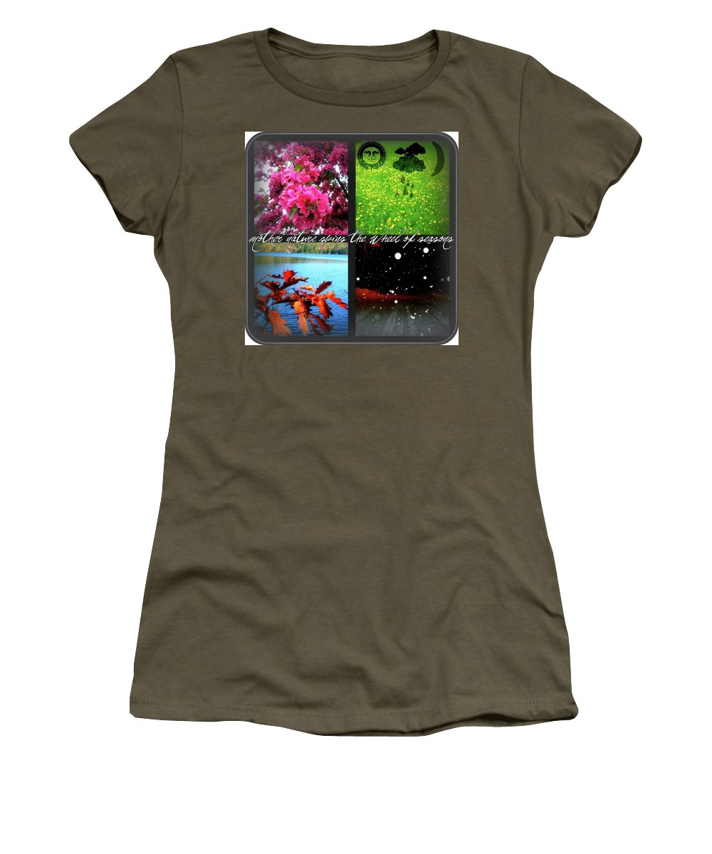 Spring Women's T-Shirt featuring the photograph Seasons by Amanda Johnson