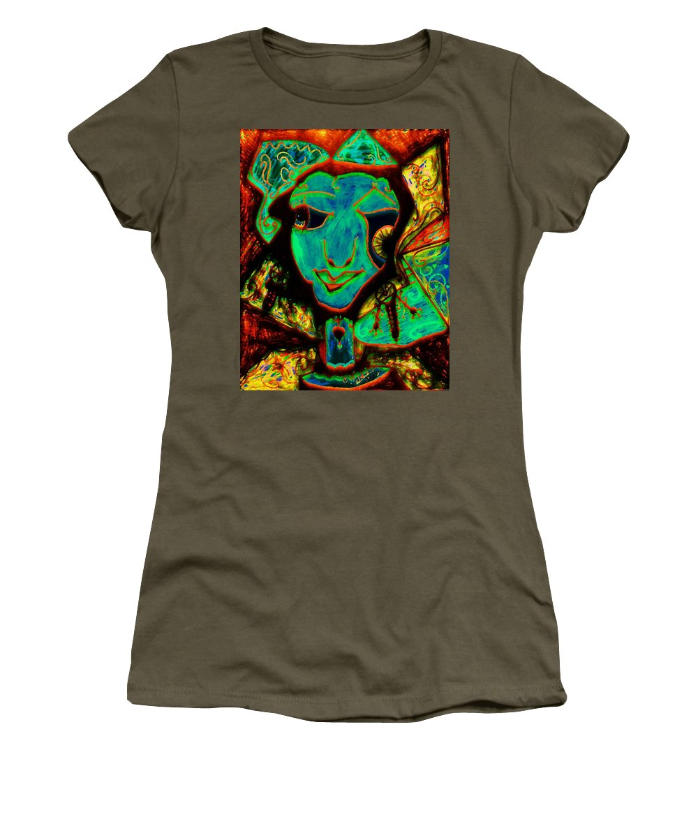 Fantasy Women's T-Shirt (Athletic Fit) featuring the painting Self Portrait by Natalie Holland